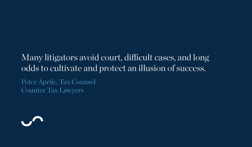 Many litigators avoid court, difficult cases, and long odds to cultivate and protect an illusion of success.