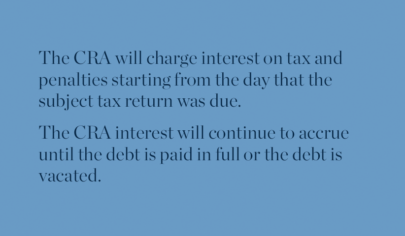 The CRA's collection department and paying tax debts in dispute