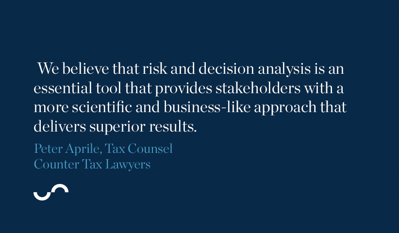 We believe that risk and decision analysis is an essential tool that provides stakeholders with a more scientific and business-like approach that delivers superior results.